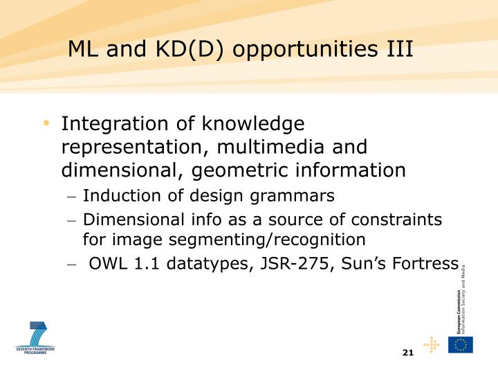 ML and KD(D) opportunities III
