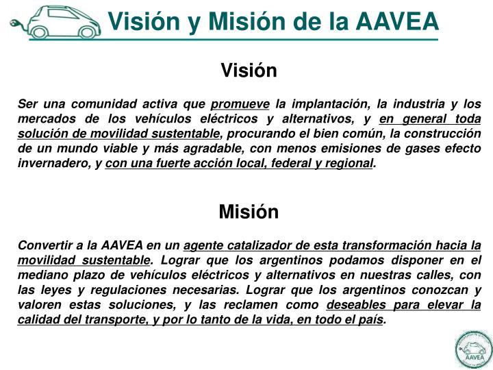 Visión y Misión de la AAVEA