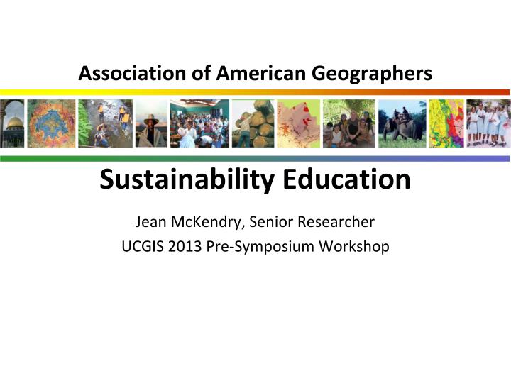 Association of american geographers sustainability education