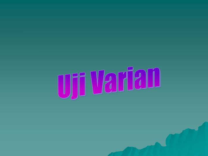 Uji Varian