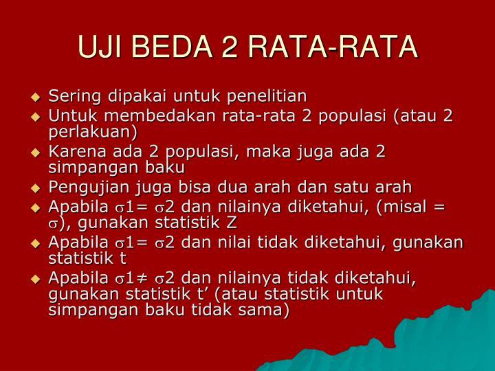 UJI BEDA 2 RATA-RATA