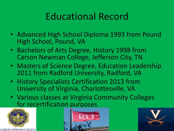 Educational record