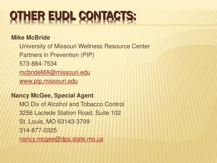Other eudl contacts