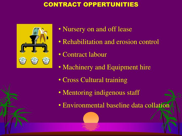 CONTRACT OPPERTUNITIES