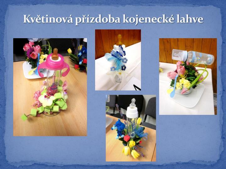 Květinová přízdoba kojenecké lahve