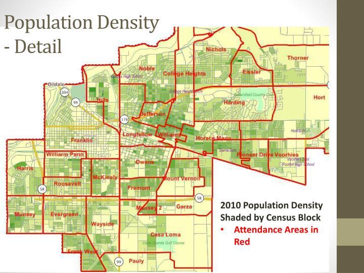 Population Density - Detail