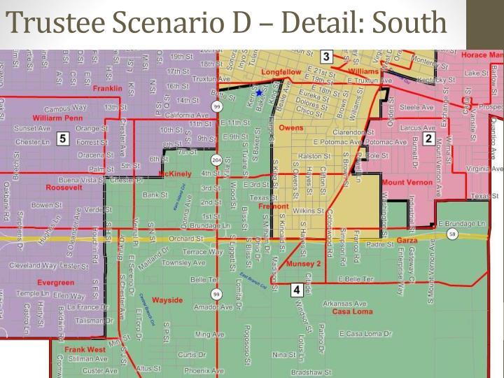 Trustee Scenario D – Detail: South