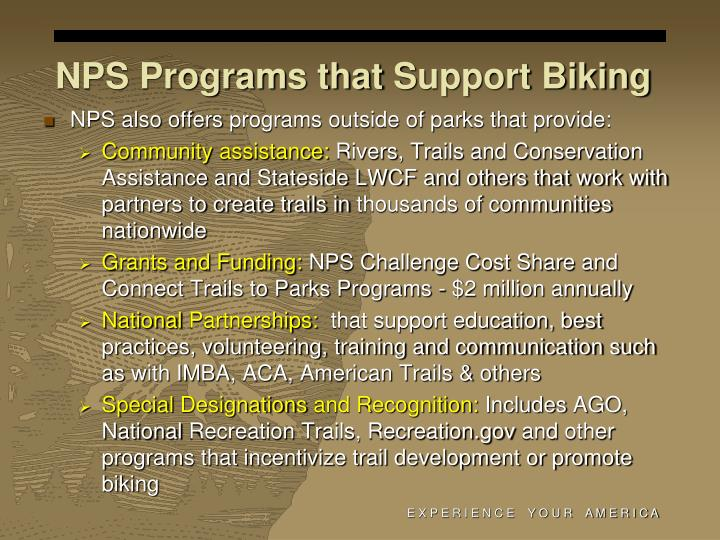 NPS Programs that