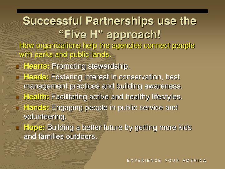 "Successful Partnerships use the ""Five H"" approach!"