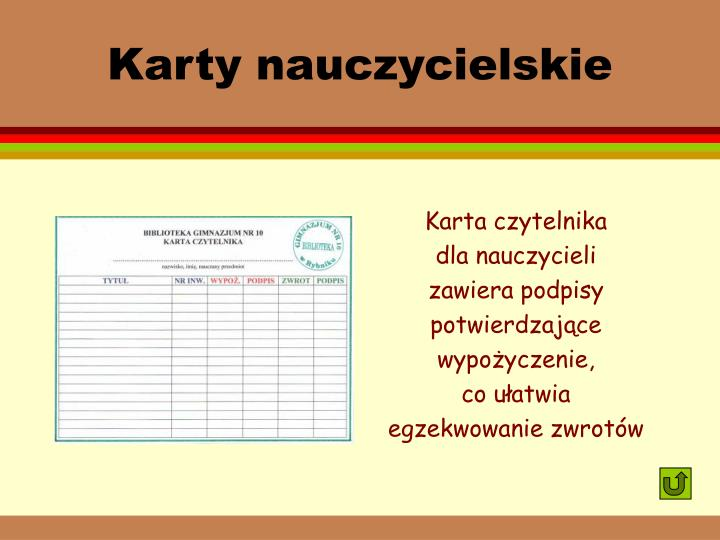 Karty nauczycielskie
