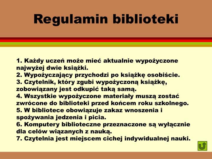 Regulamin biblioteki