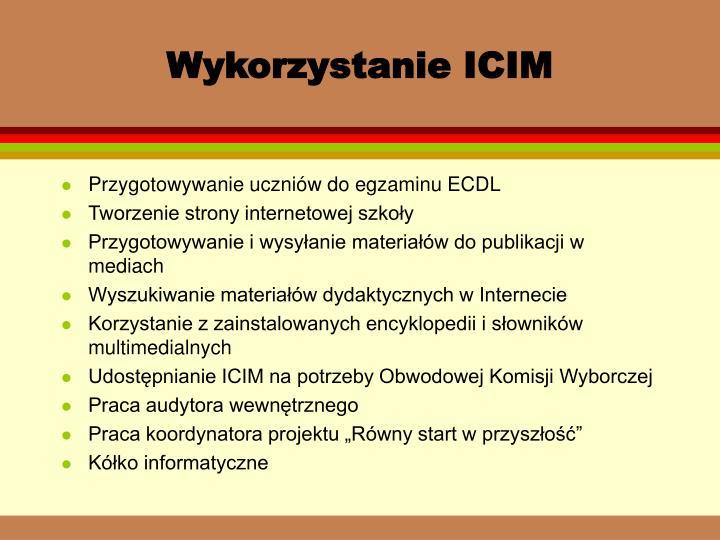Wykorzystanie ICIM