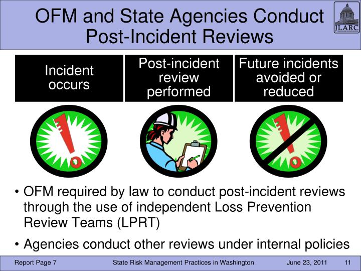 OFM and State Agencies Conduct Post-Incident Reviews