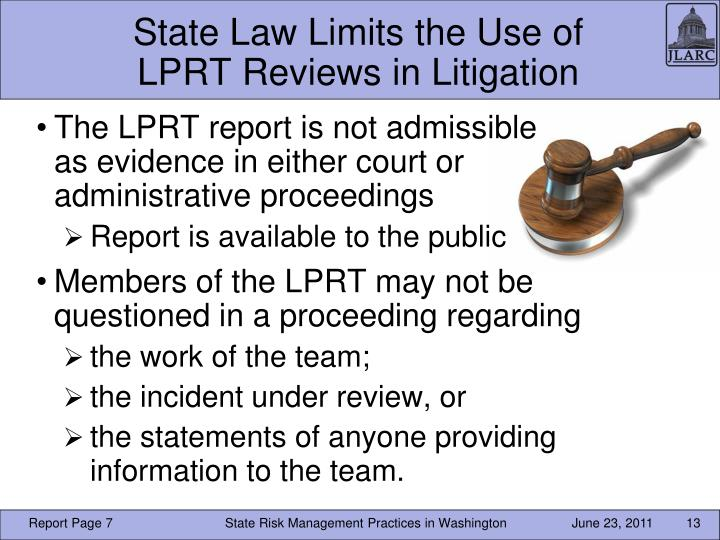 State Law Limits the Use of