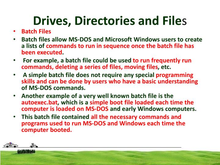 Drives, Directories and File