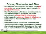 drives directories and file s3