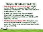 drives directories and file s5