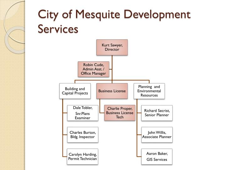 City of mesquite development services