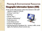 planning environmental resources