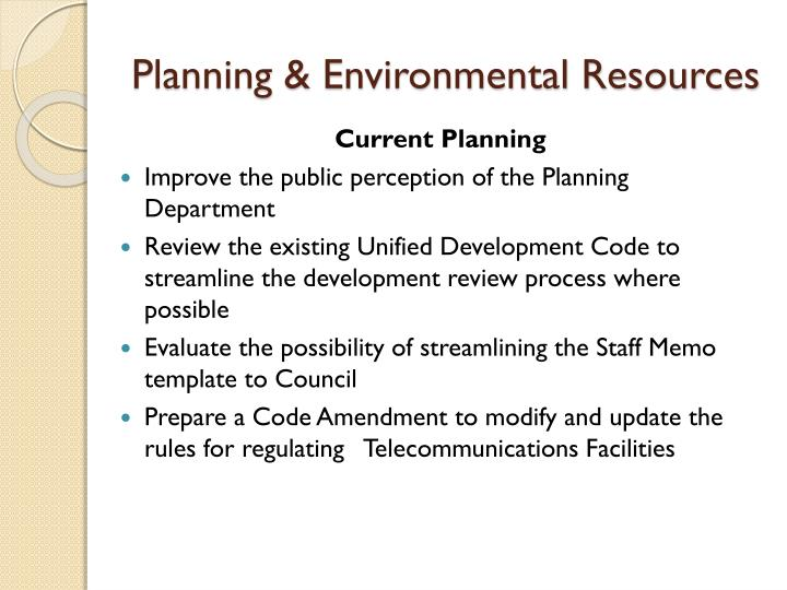 Planning & Environmental Resources