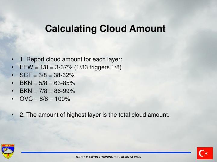 Calculating Cloud Amount