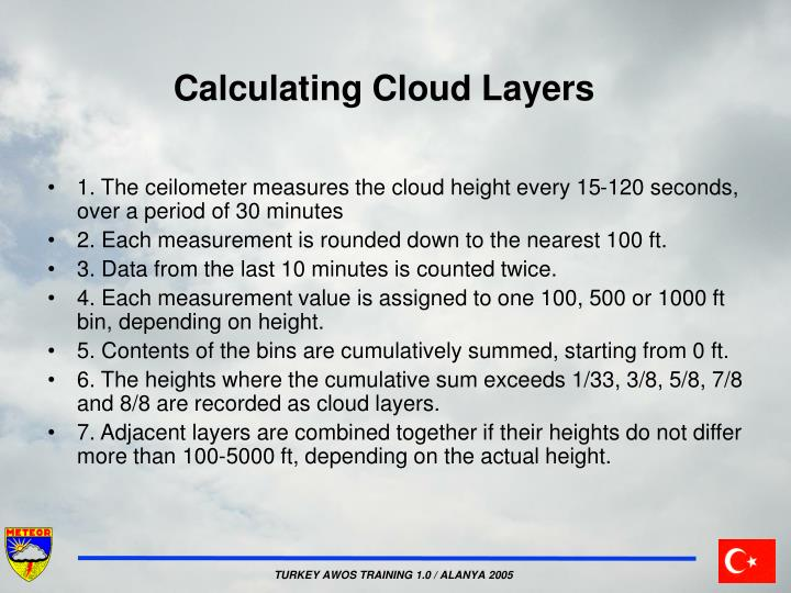 Calculating Cloud Layers