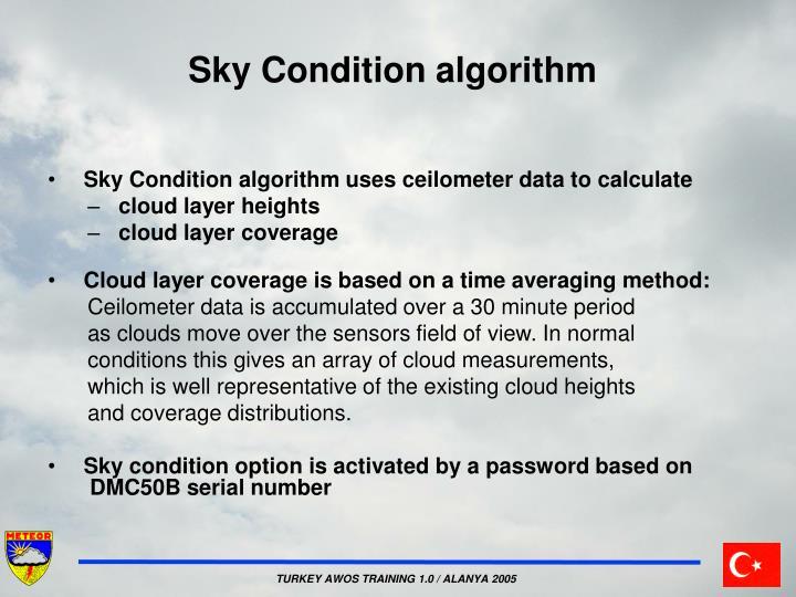 Sky Condition algorithm