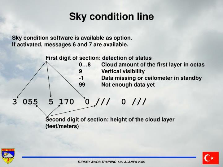Sky condition line