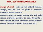 m14 elctrosecuritatea