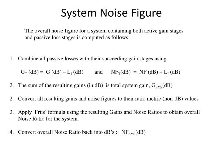 System Noise Figure