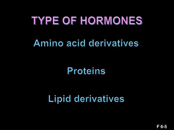 TYPE OF HORMONES