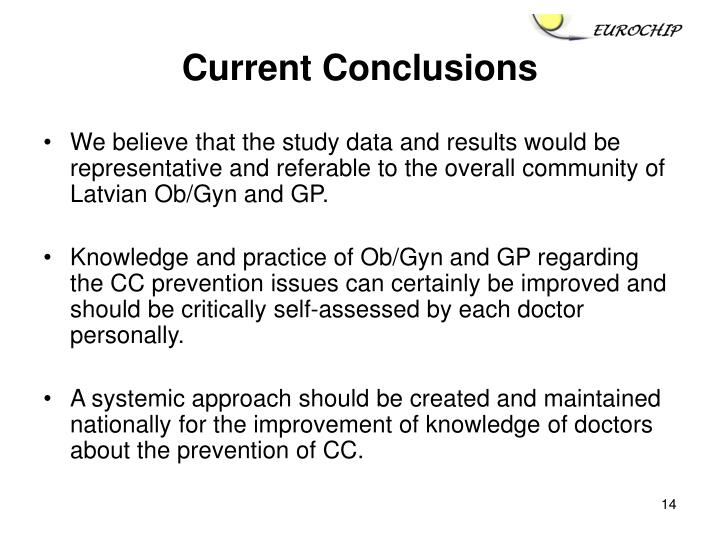 Current Conclusions