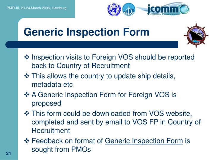 Generic Inspection Form
