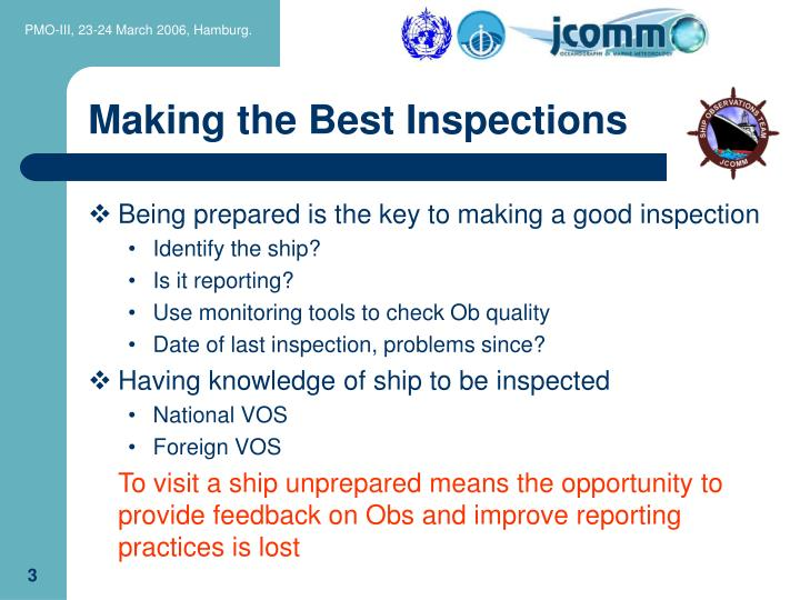 Making the best inspections