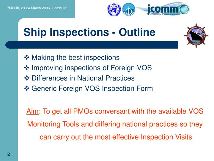 Ship inspections outline