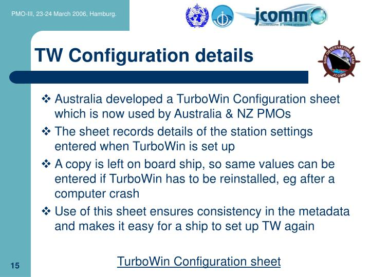 TW Configuration details