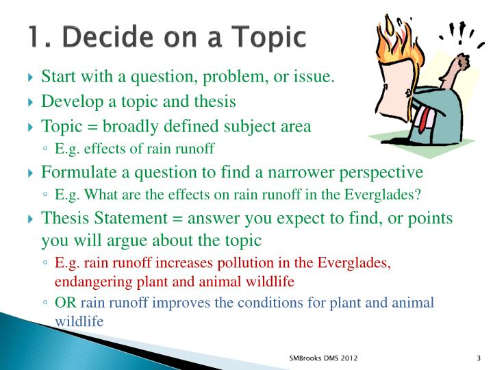 1 decide on a topic