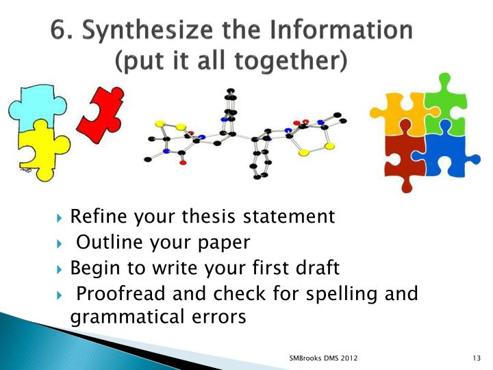 6. Synthesize the Information