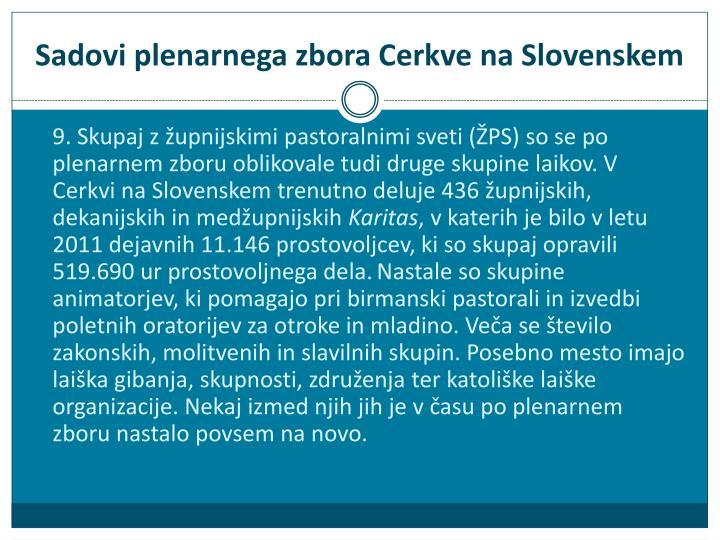 Sadovi plenarnega zbora Cerkve na Slovenskem