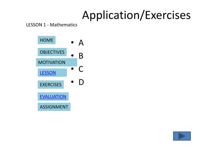 Application/Exercises