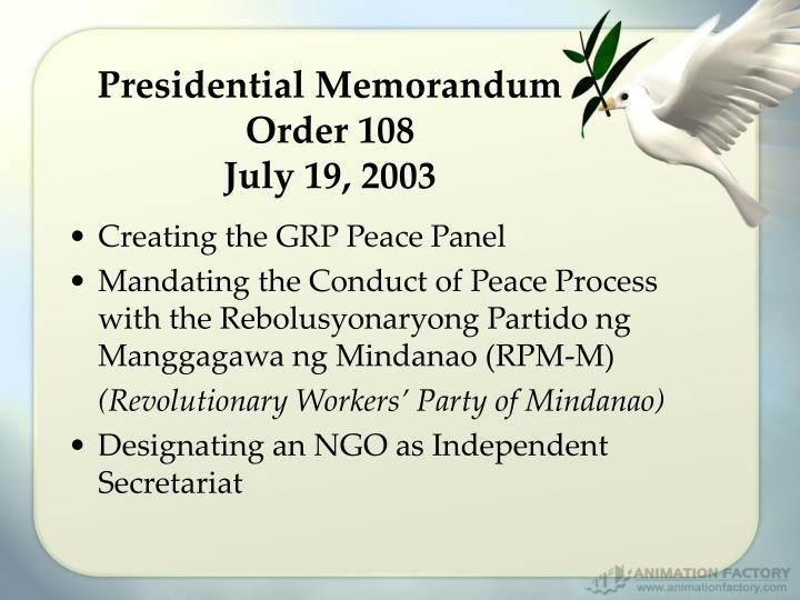 Presidential Memorandum