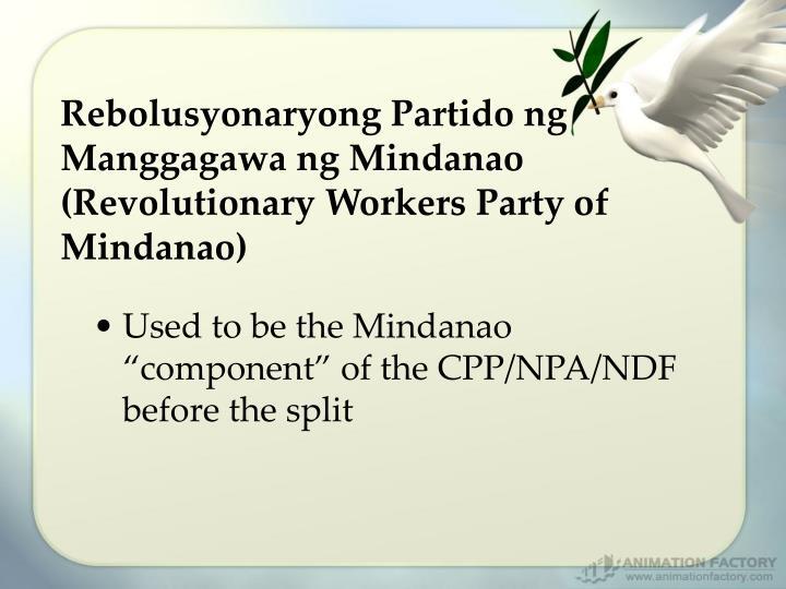 Rebolusyonaryong Partido ng Manggagawa ng Mindanao (Revolutionary Workers Party of Mindanao)