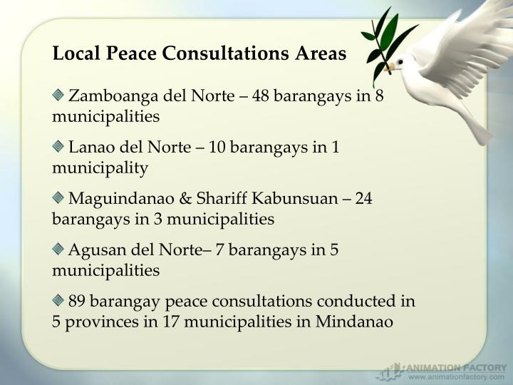 Local Peace Consultations Areas