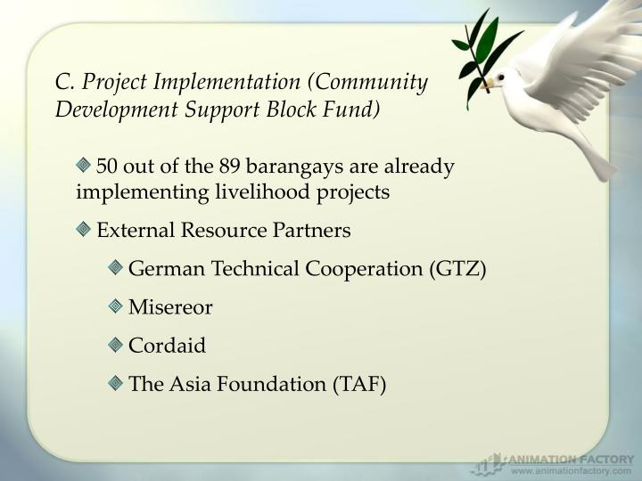 C. Project Implementation (Community Development Support Block Fund)
