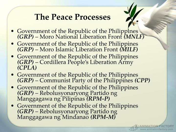 The Peace Processes