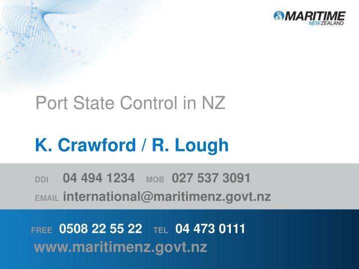 Port State Control in NZ