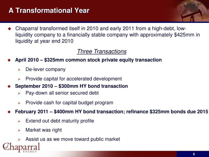A Transformational Year