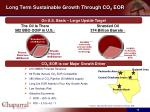 long term sustainable growth through co 2 eor