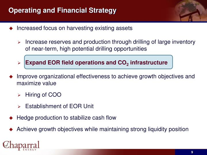 Operating and Financial Strategy
