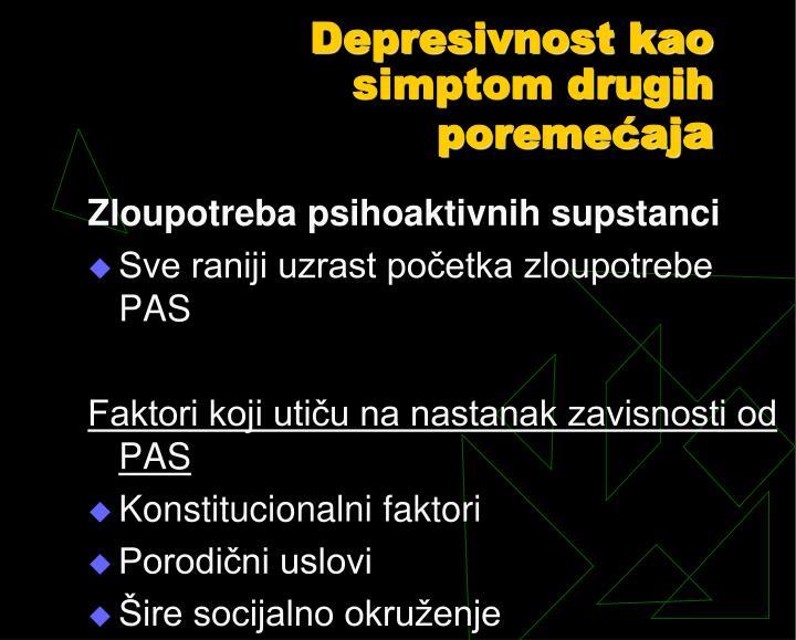 Depresivnost kao simptom drugih poremećaj